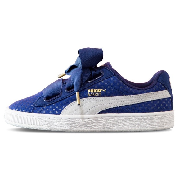 hot sale online 3ecc9 2a9eb PUMA Basket Heart Denim Sneakers